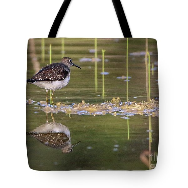 Spotted Sandpiper Reflection Tote Bag