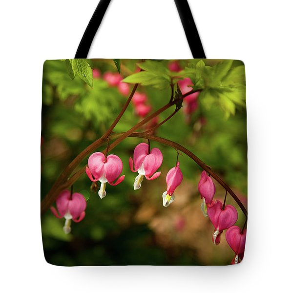 Spring Blooms Hearts Tote Bag
