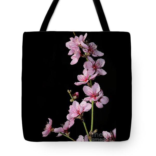 Spring Blossoms On Black 2 By Kaye Menner Tote Bag