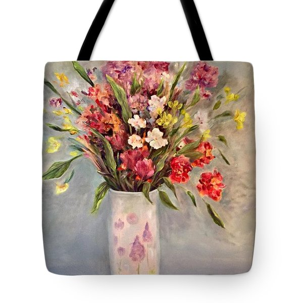 c774ee60bc58 Tote Bag featuring the painting Spring Bouquet by Anne Barberi