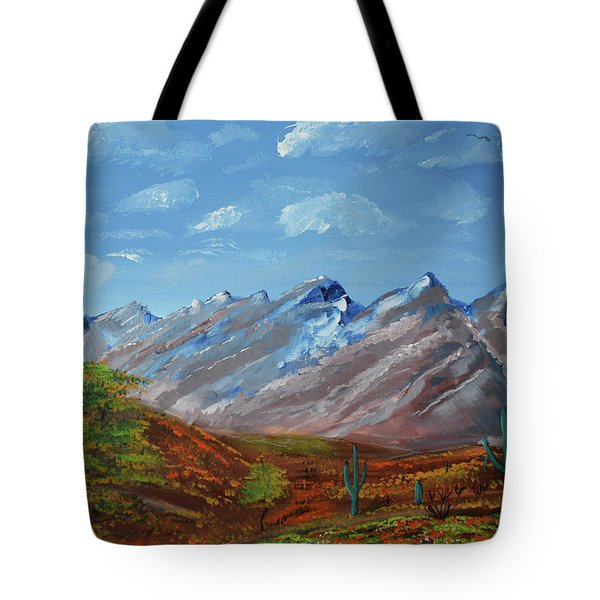 Spring Comes To Southern Arizona Tote Bag