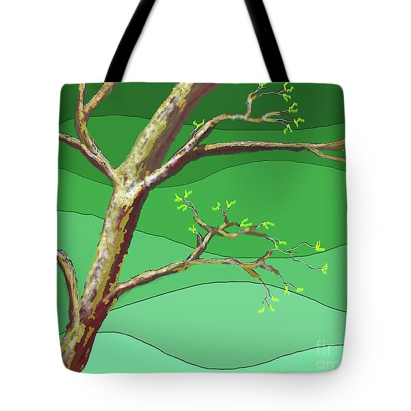 Spring Errupts In Green Tote Bag
