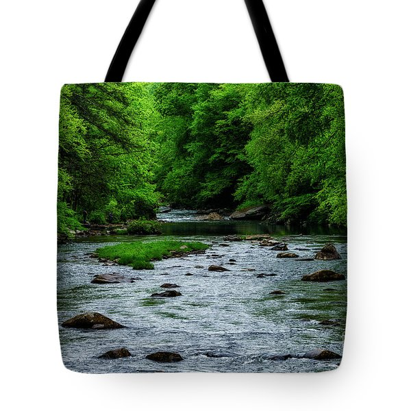 Spring Fishing Along Cranberry River Tote Bag