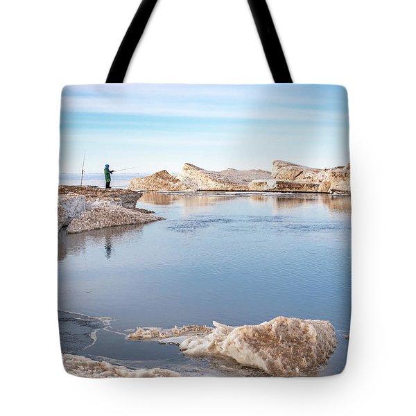 Spring Fishing Tote Bag