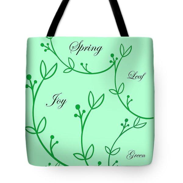Spring Green Tote Bag
