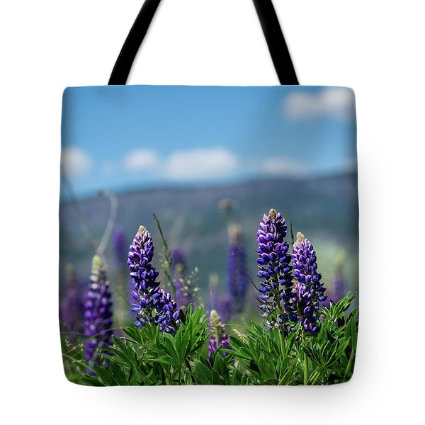 Spring Lupines Tote Bag