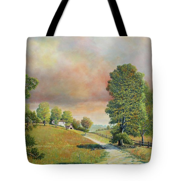 Spring Path Tote Bag