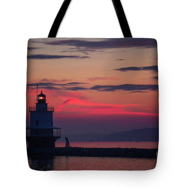 Spring Point Ledge Lighthouse Tote Bag