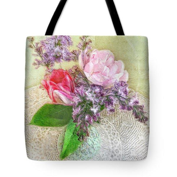 Spring Song Floral Still Life Tote Bag