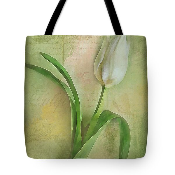 Spring Tulip Montage Tote Bag