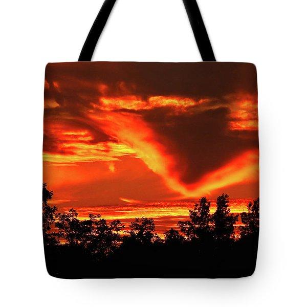 Springport, Michigan Sunset 4289 Tote Bag