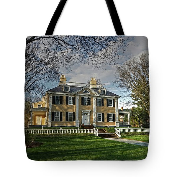 Tote Bag featuring the photograph Springtime At Longfellow House by Wayne Marshall Chase
