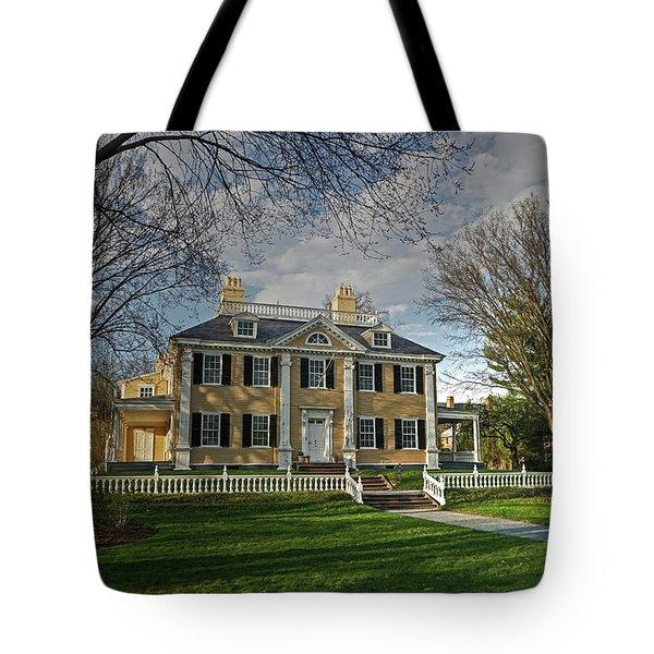 Springtime At Longfellow House Tote Bag