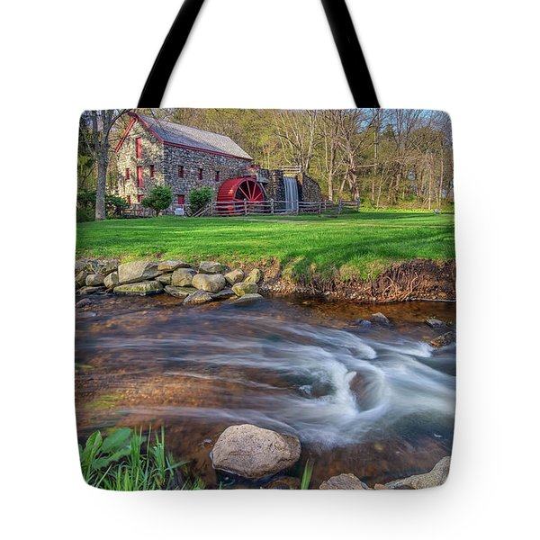 Springtime At The Grist Mill Tote Bag