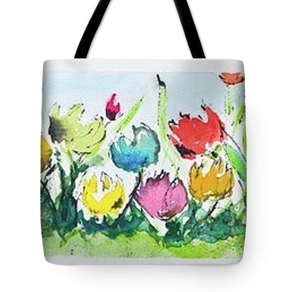 Springtime Tulips Tote Bag