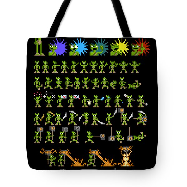Tote Bag featuring the digital art Sprite Sheet 1 by Bfm