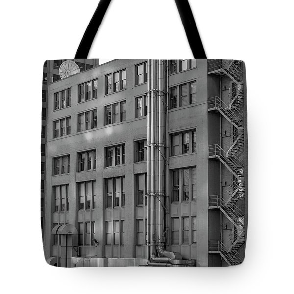 Squares And Lines Tote Bag