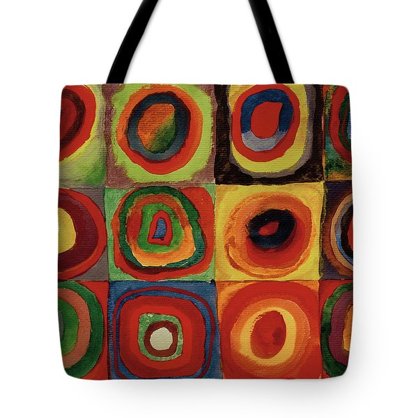 Squares With Concentric Circles 1913  Tote Bag