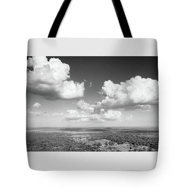 Sri Lankan Clouds In Black Tote Bag