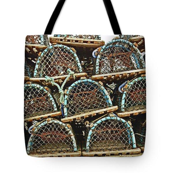 St. Andrews. Lobster Pots. Tote Bag