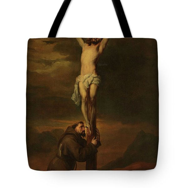 St Francis At The Foot Of The Cross, 1691 Tote Bag