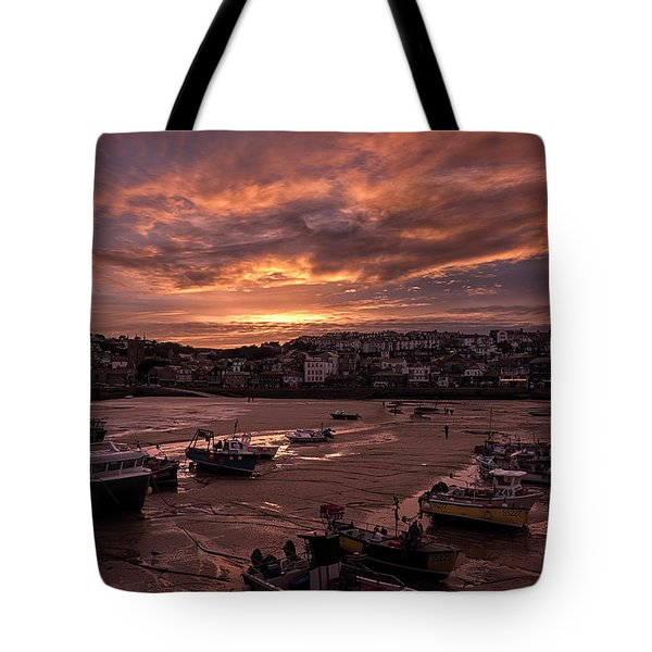 St Ives Cornwall - Harbour Sunset Tote Bag