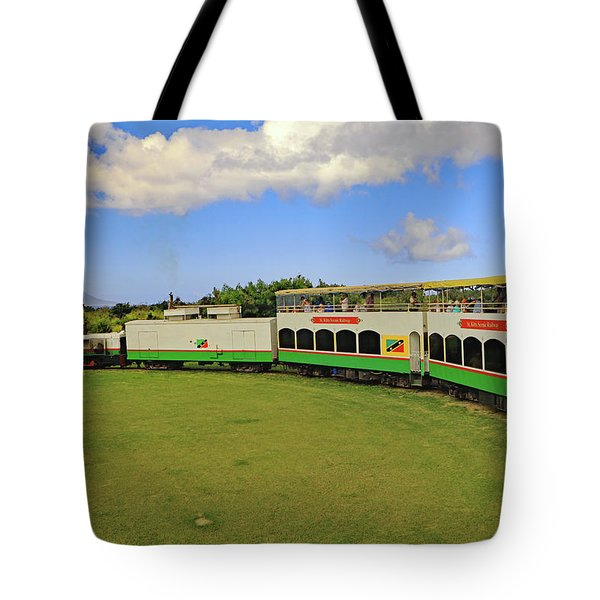 Tote Bag featuring the photograph St Kitts Railway by Tony Murtagh