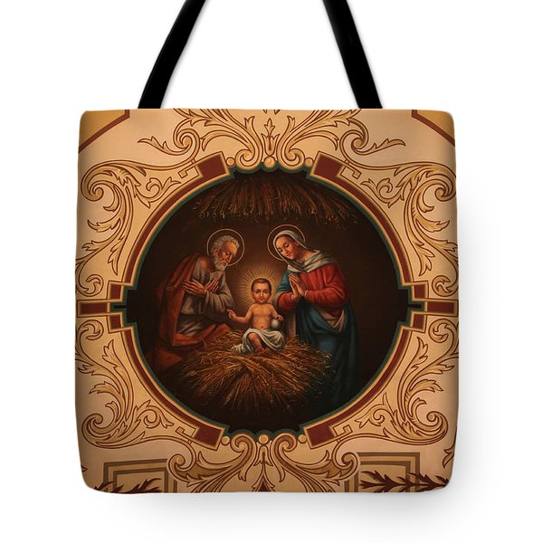 St. Louis Cathedral Nativity Scene Tote Bag