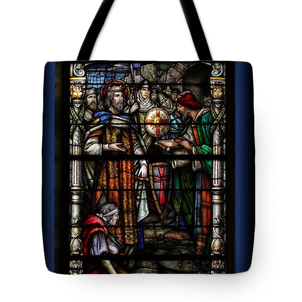 St. Louis Cathedral Stained Glass Window Tote Bag