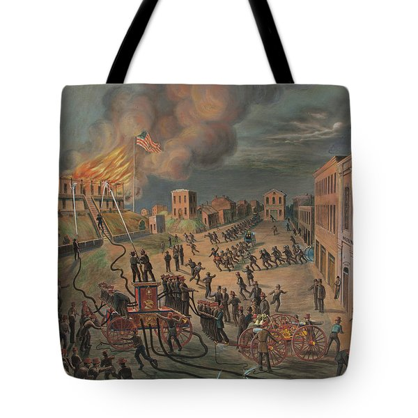 St. Louis Volunteer Mound Fire Co.9 Responding To A Fire Tote Bag