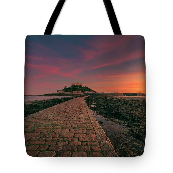 St Michael's Mount Sunset Tote Bag