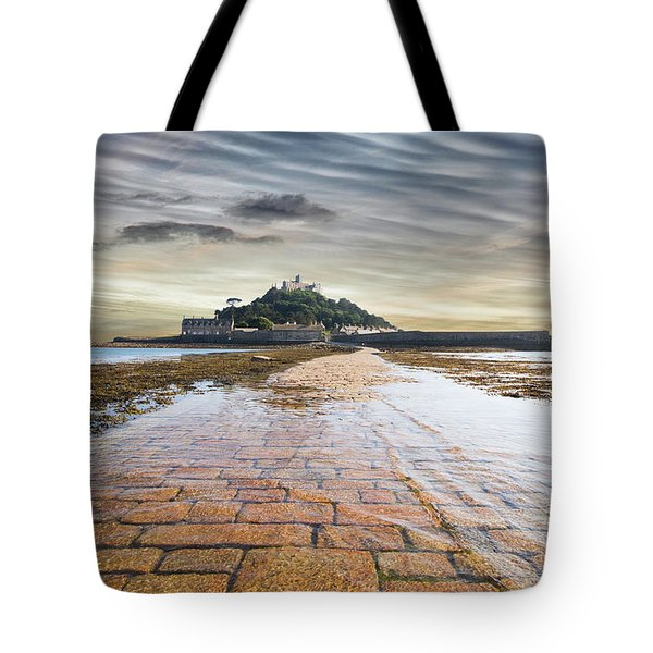 St Michaels Mount Sunsets Tote Bag