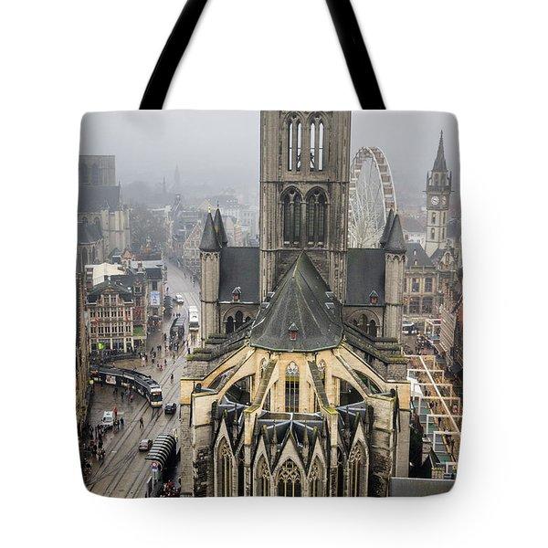 St. Nicholas Church, Ghent. Tote Bag