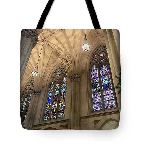 St Patricks Stained Glass Tote Bag