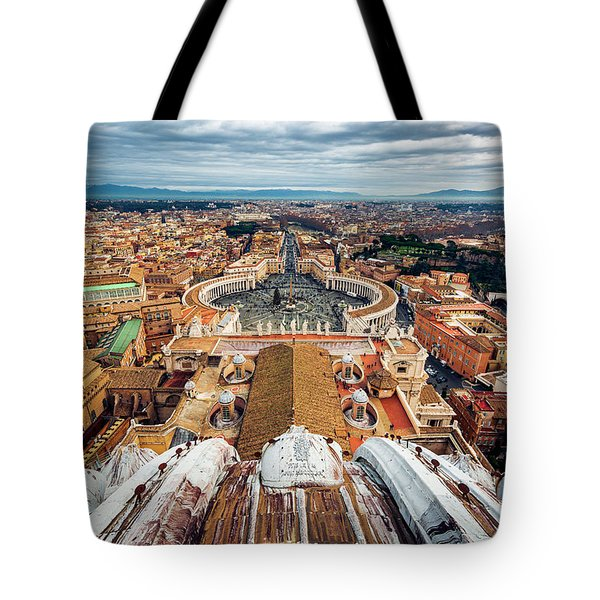 St Peter's Square From Top Of The Basilica Tote Bag
