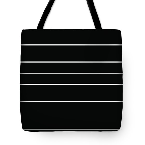 Stacked - Black And White Tote Bag
