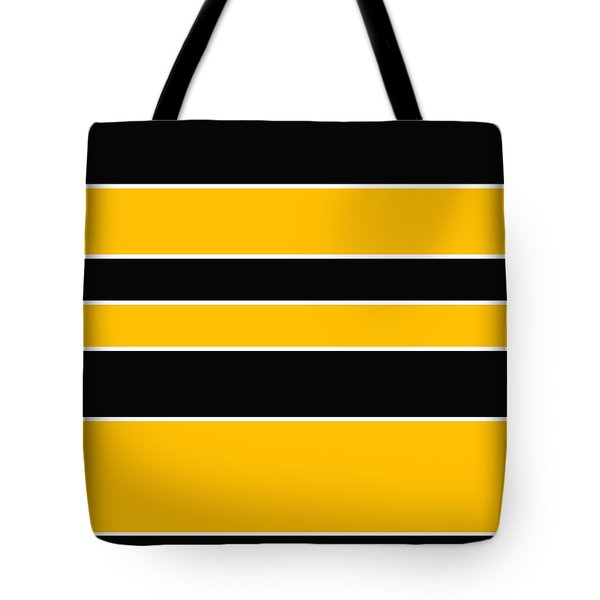 Stacked - Black And Yellow Tote Bag