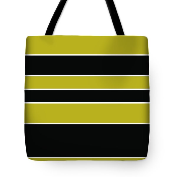 Stacked - Gold, Black And White Tote Bag