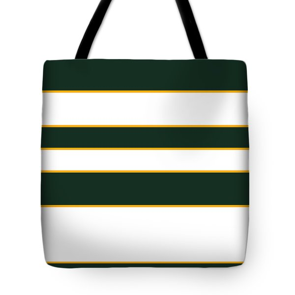 Stacked - Green, White And Yellow Tote Bag
