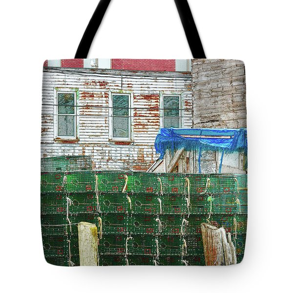 Stacked Lobster Traps Tote Bag
