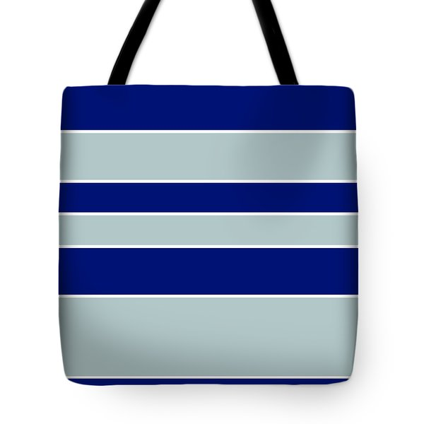 Stacked - Navy, Grey, And White Tote Bag