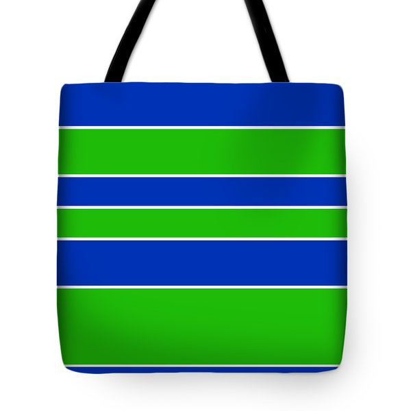 Stacked - Navy, White, And Lime Green Tote Bag