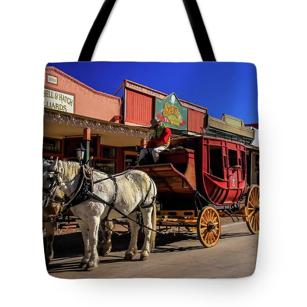 Tote Bag featuring the photograph Stagecoach, Tombstone by Dawn Richards
