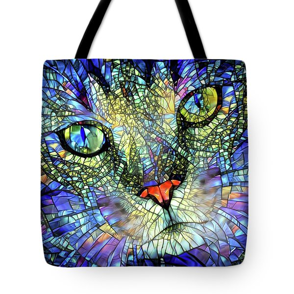 Stained Glass Cat Art Tote Bag