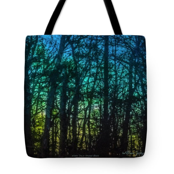 Stained Glass Dawn Tote Bag