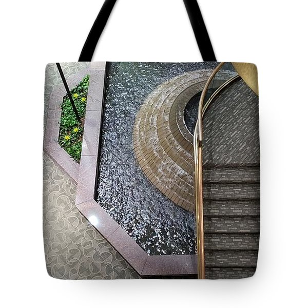 Stairs And Fountain  Tote Bag