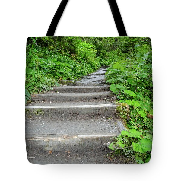 Stairs To The Woods Tote Bag