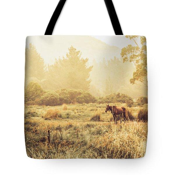 Stallion Homestead Tote Bag