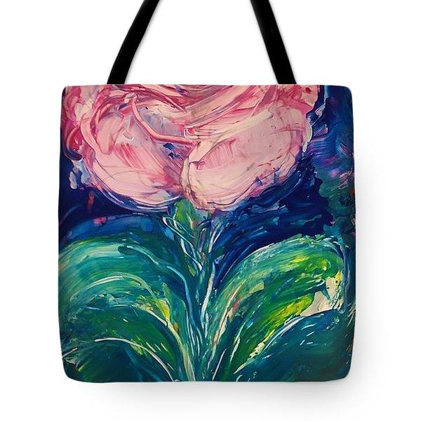 Standing Rose Tote Bag