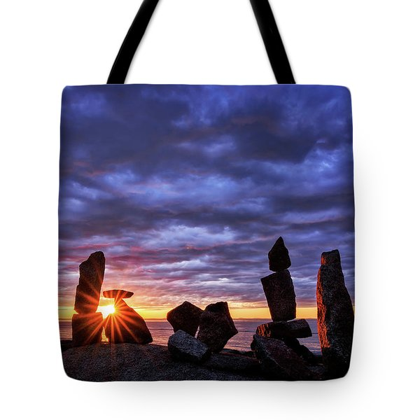 Tote Bag featuring the photograph Standing Stone 1 Halibut Pt.  by Michael Hubley